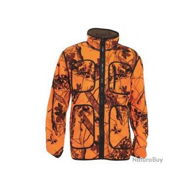 veste deer hunter réversible marron et fluo taille : M L XL