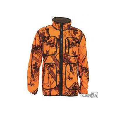 veste deer hunter réversible marron et fluo