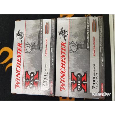 boite de 20 balles winchester 7mm REM MAG 150grains power