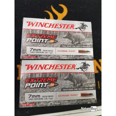 Balles winchester 7mm REM MAG 140 grains extreme point