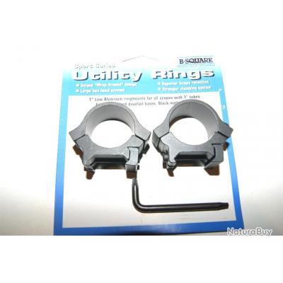 colliers BSQUARE lunette montage point rouge optique 25.4mm pour rail 22mm