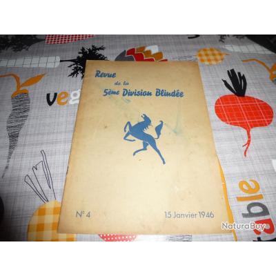 + REVUE DE LA 5 éme DIVISION BLINDEE LE NUMERO 4 DU 15 JANVIER 1946