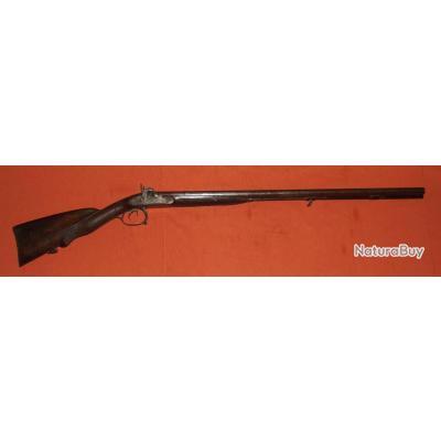 fusil de chasse juxtaposé a percussion canon damas vers 1850