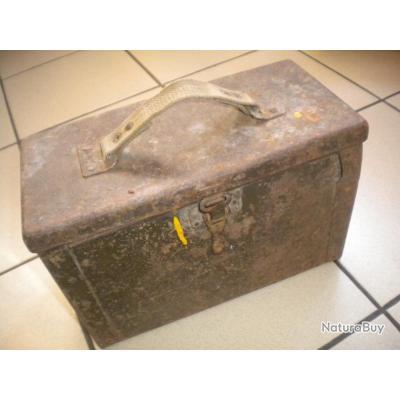 caisse us gi munition calibre 12 7 ww2 rare premier modele tole et toile caisses munitions. Black Bedroom Furniture Sets. Home Design Ideas