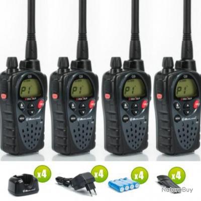 Lot de 4 talkie walkie