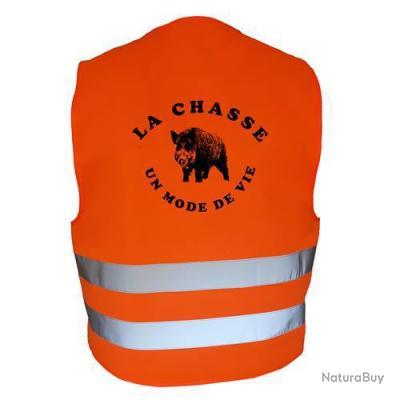 Gilet de chasse Orange - la chasse, un mode de vie