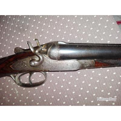fusil de chasse saint etienne chiens calibre 16 65 bronzage tres beau canon miroir fusils. Black Bedroom Furniture Sets. Home Design Ideas