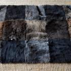 Tapis unique en morceaux de PEAU DE MOUTON   patchwork 150 x 90cm NEUF !!! Sheepskin rug
