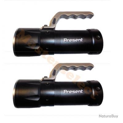 2 x LAMPE PROJECTEUR A LED XM-L T6 CREE PUISSANTE RECHARGEABLE SECTEUR VOITURE