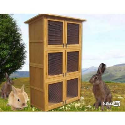 clapier cage 6 box l vage lapin pigeon lapin nain neuf. Black Bedroom Furniture Sets. Home Design Ideas