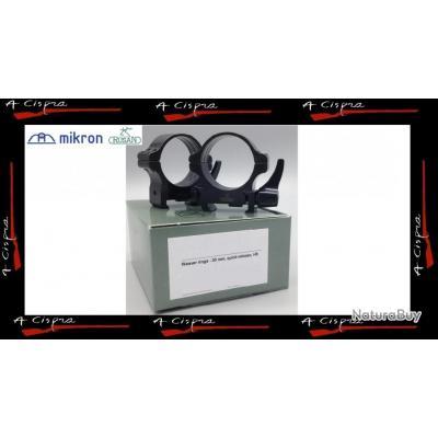 Colliers acier amovibles Medium  30mm  Rusan Quick-release  pour rails  weaver & picatinny