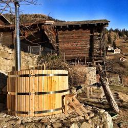 Chalets en bois - Bain nordique chauffage bois ...