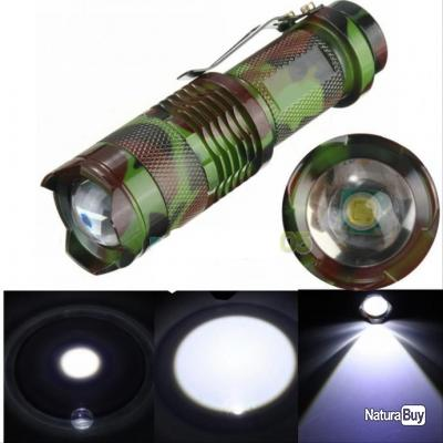 lampe torche led cree avec zoom 3 mode 2000 lumens lampes 3652618. Black Bedroom Furniture Sets. Home Design Ideas