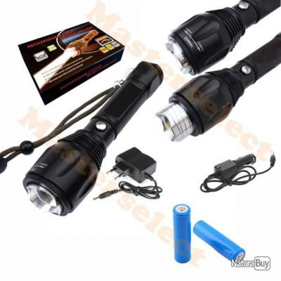lampe torche a led smd cree puissante a main avec zoom. Black Bedroom Furniture Sets. Home Design Ideas