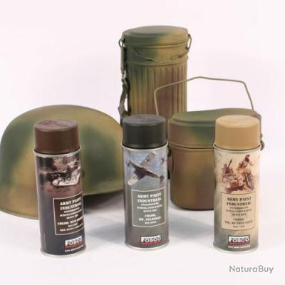 bombe spray peinture allemand ww2 wh camo para camouflage normandie 44 casque peinture 3659085. Black Bedroom Furniture Sets. Home Design Ideas