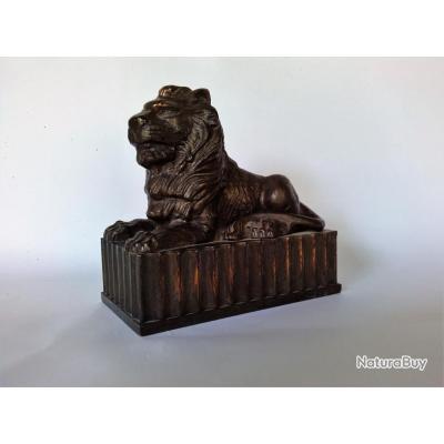 Lion bronze HSBC  , tirelire