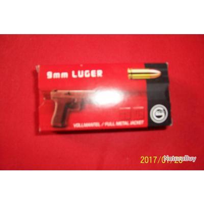 50 balles GECO,9 mm Luger