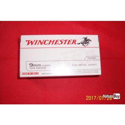 50 balles Winchester 9mm Luger