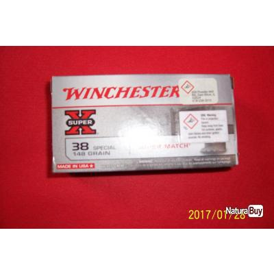 50 balles Winchester 38 special