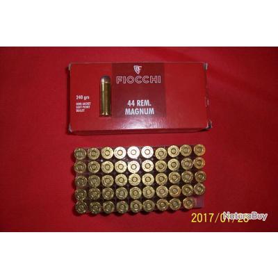 50 balles Fiocchi    44 rem magnum,