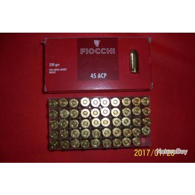 50 balles Fiocchi    45 ACP