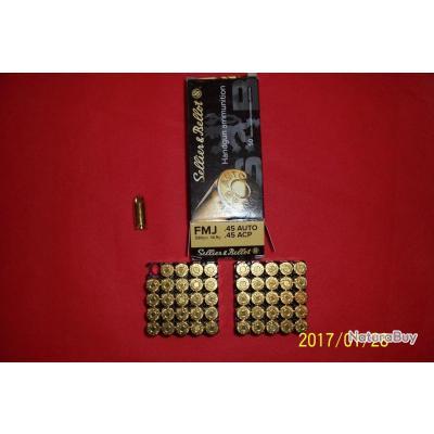 50 balles Sellier & Bellot, 45 ACP
