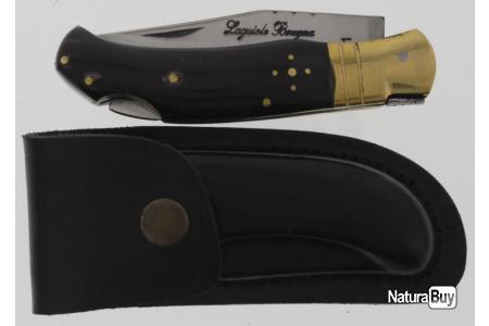 Couteau Laguiole Bougna  Lame 18 cm promo étui cuir