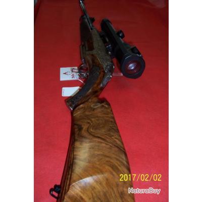 Carabine d'occasion Merkel RX HELIX CUSTOM 300 Win Mag, incrustation or, gravures à la main, optique