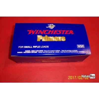 Amorces  Winchester PRIMERS  SMALL RIFFLE