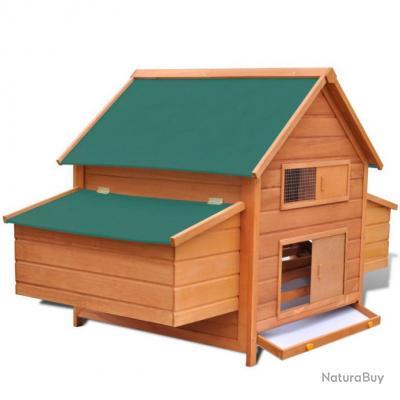Cage poules ext rieur avec 2 cages en bois pour oeufs - Quel bois pour l exterieur ...