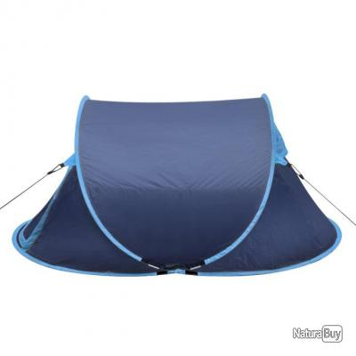 Tente de camping pour 2 personnes Bleu-marine / bleu-clair