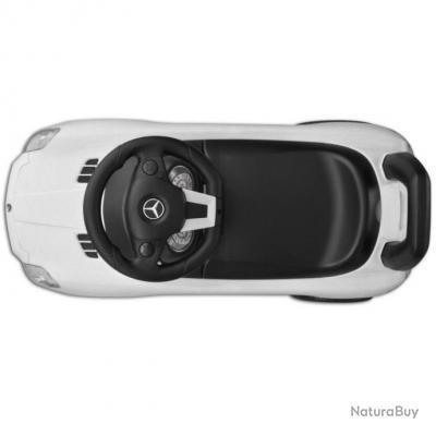 mercedes benz pousse pied voiture enfant blanc balan oires et aires de jeux 3677639. Black Bedroom Furniture Sets. Home Design Ideas