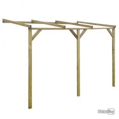 pergola murale en bois 2 x 3 x 2 2 m auvents carports. Black Bedroom Furniture Sets. Home Design Ideas