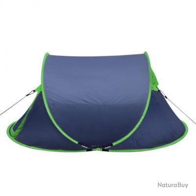 Tente de camping pour 2 personnes bleu-marine / Vert