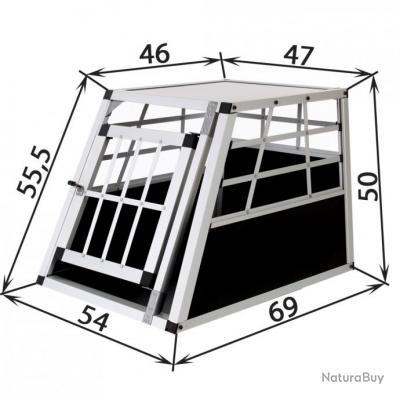 cage chien box chien caisse de transport chien cage alu neuf cages caisses sacs et remorques. Black Bedroom Furniture Sets. Home Design Ideas