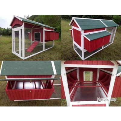 poulailler geant abri poule caille clapier volaille enclos. Black Bedroom Furniture Sets. Home Design Ideas