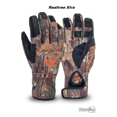 """First Lite. Gants """"shooting glove"""" automne et hivers camo realtree Xtra Taille XL"""