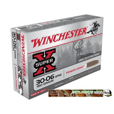 Munitions Winchester Power-Point calibre 30-06 - 180 grains SPRG