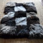 Tapis unique en morceaux de PEAU DE MOUTON   patchwork 160 x 100cm NEUF !!! Sheepskin rug