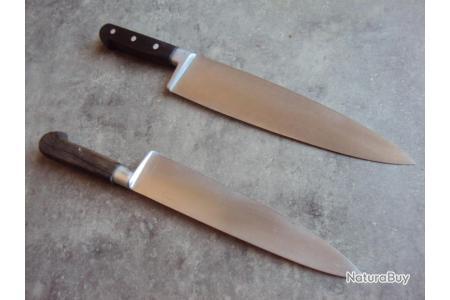 Lot 2 Couteau De Cuisine De Marque Deglon Mf Paris Couteaux De