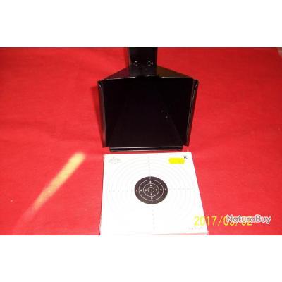 porte cible papier 14x14cms, support métallique à fixer, pack de 25 cibles
