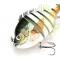 petites annonces chasse pêche : LOT DE 3 POISSONS MULTI ARTICULES (type petite Perche - Calicoba) 4