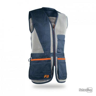 pack tir Gilet F3 competition TITAN xl bleu BLASER  (lunette+sac munitions) ! top promo