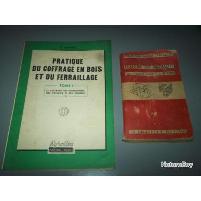lot 2 ouvrages des années 50 sur la maçonnerie et beton armé