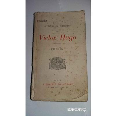 1925 Morceaux Choisis De Victor Hugo Poesie Edition Delagrave
