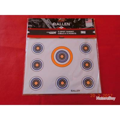 ALLEN 12  cibles  11 spots  de tir  30cmsX30cms
