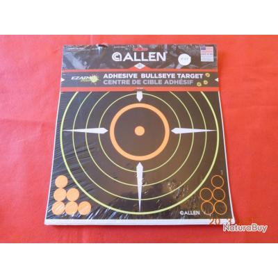 ALLEN 5 cibles adhésives avec pastilles  orange et noire ,   30cmsX30cms