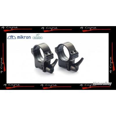 Colliers acier amovibles bas (low)   30mm  Rusan Quick-release  pour Tikka T3 & T3x