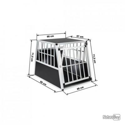 cage de transport chien aluminium pour transport en voiture single paroi arri re inclin e. Black Bedroom Furniture Sets. Home Design Ideas