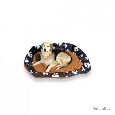 coussin pour chien lit pour chien panier pour chien douillet brun noir avec motifs taille. Black Bedroom Furniture Sets. Home Design Ideas